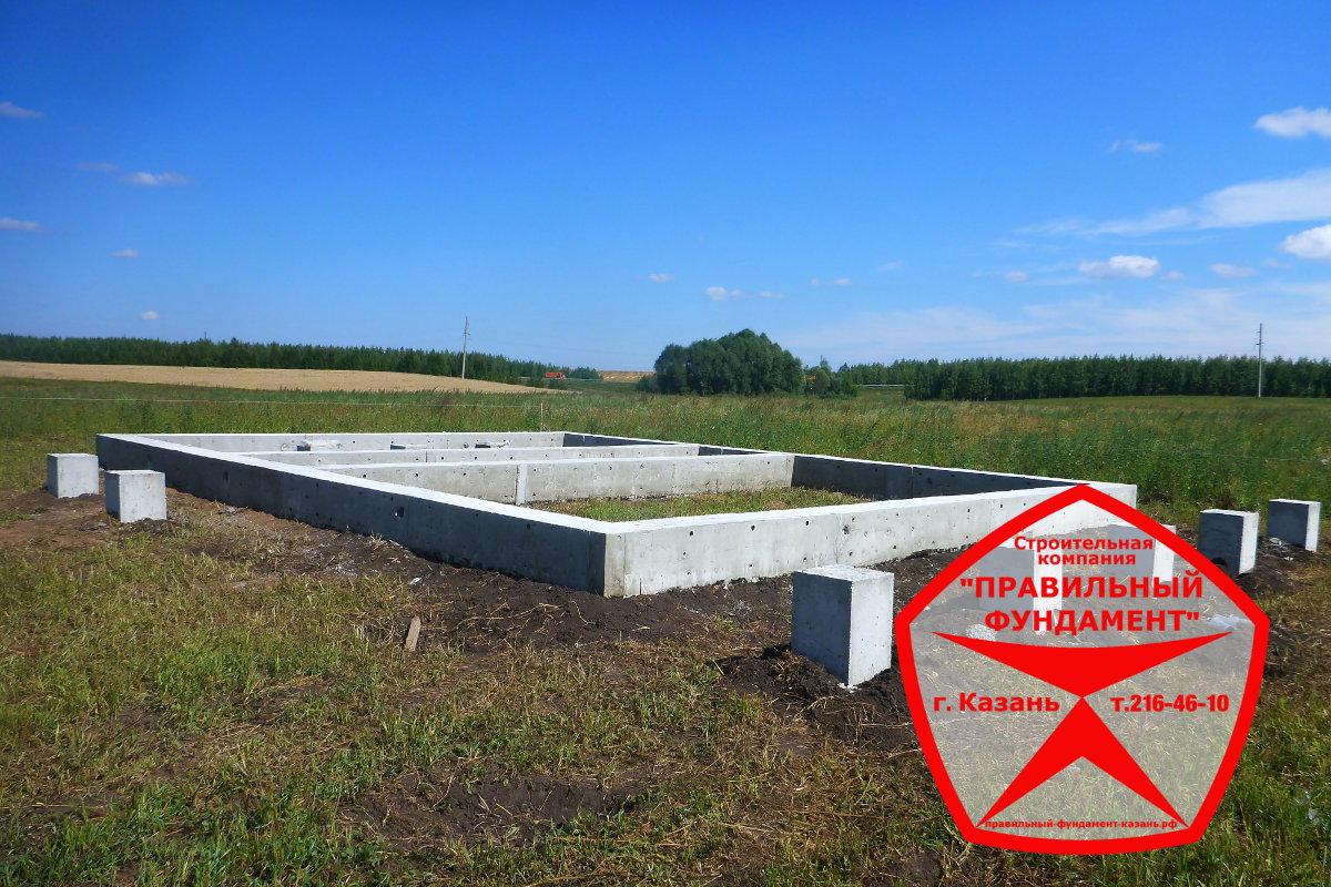Правильный фундамент под деревянный дом Казань