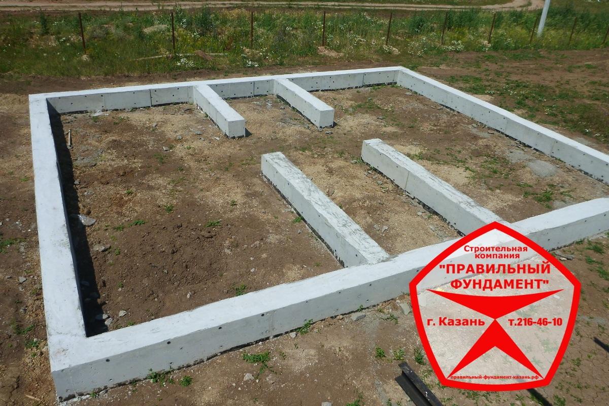 Правильный фундамент под кирпичный дом Казань